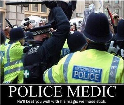 pic: Police Medic: he'll beat you well with his magic wellness stick.